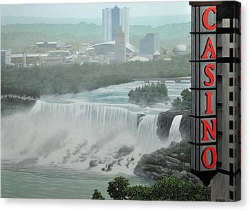 Falls View Canvas Print by Kenneth M  Kirsch