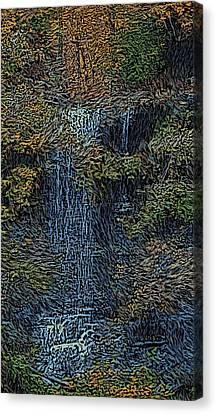 Falls Woodcut Canvas Print by David Lane