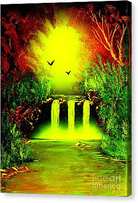 Falls08 E1 Canvas Print by Greg Moores