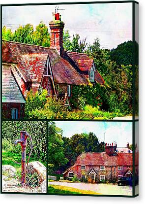 Falmer Collage Canvas Print by Dorothy Berry-Lound