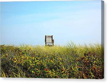 Canvas Print featuring the photograph Falmouth Beach Open 9-5 by Madeline Ellis