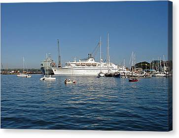 Falmouth Harbour Canvas Print by Rod Johnson