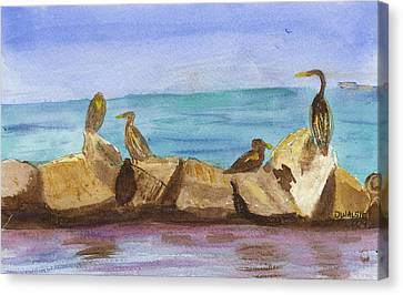 Canvas Print featuring the painting Falmouth Mass by Donna Walsh