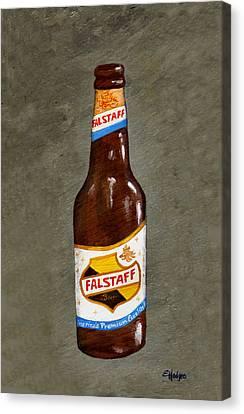 Falstaff Beer Bottle Canvas Print by Elaine Hodges