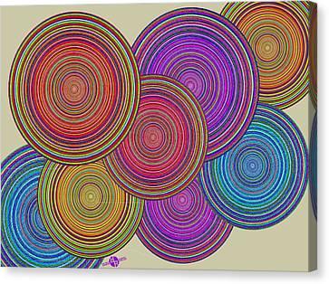 Family Circles Of Harmony 1 Canvas Print by Tony Rubino