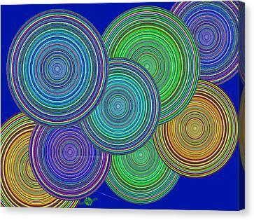 Family Circles Of Harmony 2 Canvas Print by Tony Rubino