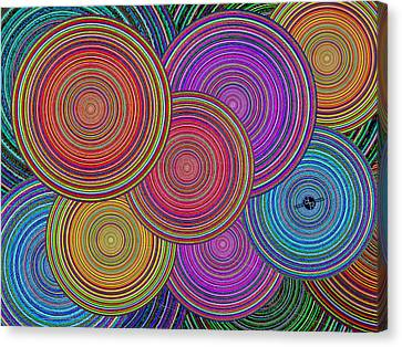 Family Circles Old And Young Unite 2 Canvas Print by Tony Rubino