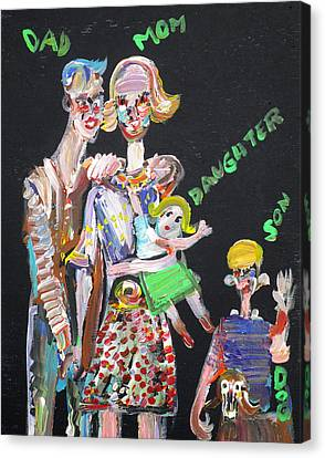 Canvas Print featuring the painting Family Day by Fabrizio Cassetta