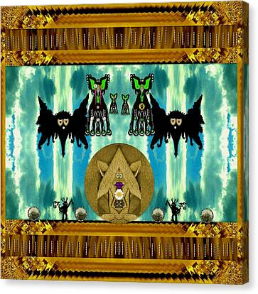 Family Dracula With Friends Canvas Print by Pepita Selles