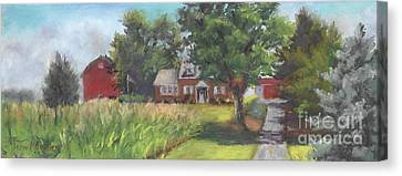 Family Farm Canvas Print by Terri  Meyer
