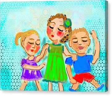Family Fun Canvas Print by Elaine Lanoue