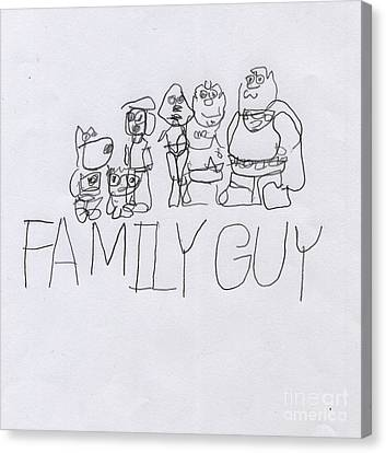Family Guy Pencil Sketch Canvas Print by Vincent Gitto