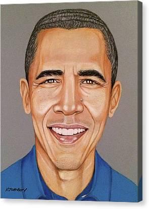 Barack Canvas Print - Barack Obama by Kevin Johnson Art