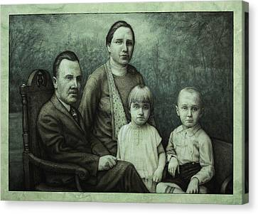 Family Portrait Canvas Print by James W Johnson