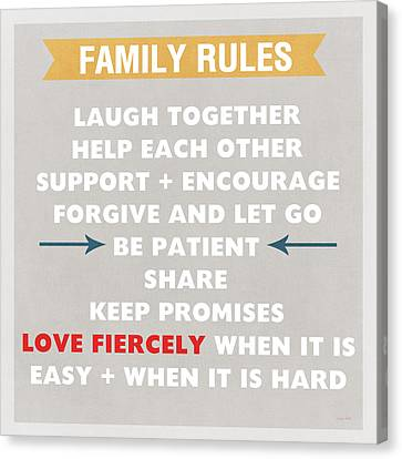 Family Rules Canvas Print