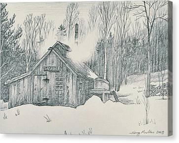 Family Sap House Canvas Print by Harry Moulton