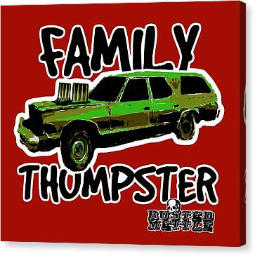 Family Thumpster Canvas Print by George Randolph Miller