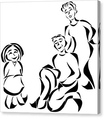 Family Time Canvas Print by Delin Colon