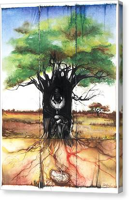 Canvas Print featuring the mixed media Family Tree by Anthony Burks Sr