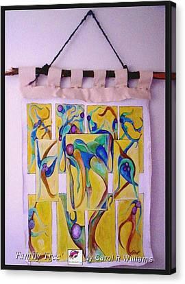 Family Tree Canvas Print by Carol Rashawnna Williams