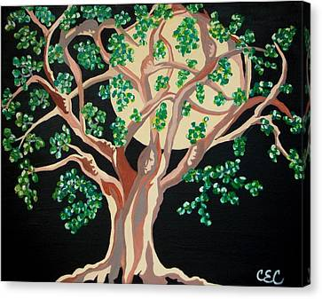 Canvas Print featuring the painting Family Tree by Carolyn Cable