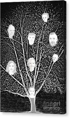 Family Tree Canvas Print by Diamante Lavendar