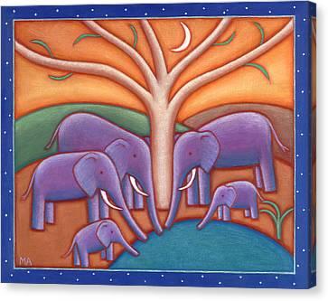 Family Tree Canvas Print by Mary Anne Nagy