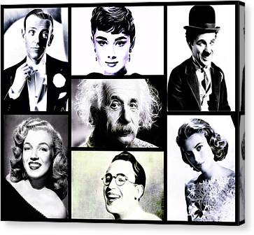 Famous Faces Canvas Print by Esoterica Art Agency