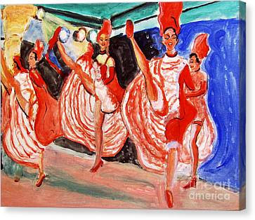 Famous French Cancan Canvas Print