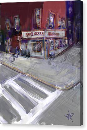 Famous Ray's Canvas Print by Russell Pierce