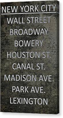 The Bowery Canvas Print - Famous Streets Of New York City by Dan Sproul
