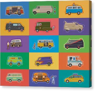 Famous Vans Canvas Print
