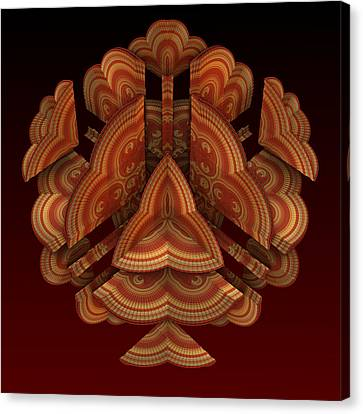 Canvas Print featuring the digital art Fan Dance by Lyle Hatch