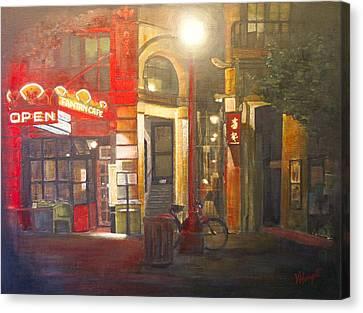 Fan Tan Alley Canvas Print by Victoria Heryet