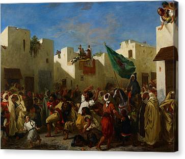 Fanatics Of Tangier Canvas Print by Eugene Delacroix