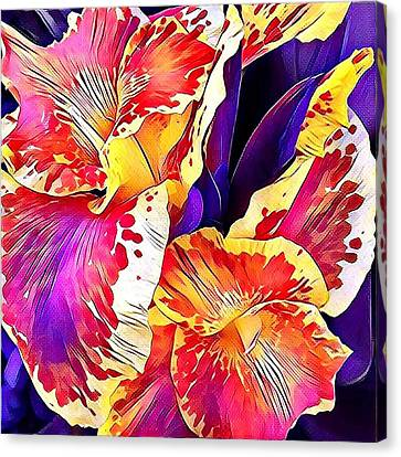Canvas Print featuring the photograph Fanciful Canna  by Heidi Smith
