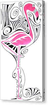 Fanciful Flamingo Canvas Print