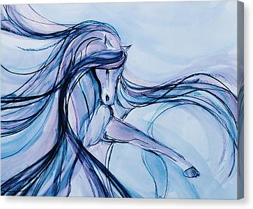 Gypsy Canvas Print - Fancy Blue Dancer by Jennifer Fosgate