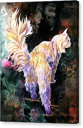 Canvas Print featuring the painting Fancy Britches by Sherry Shipley