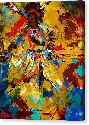 Fancy Dancer Canvas Print by Brooke Lyman