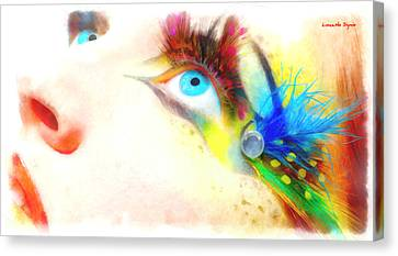 Fancy Eye - Da Canvas Print by Leonardo Digenio