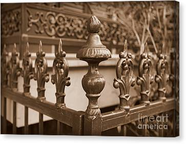 Antique Ironwork Canvas Print - Fancy Fence In New Orleans by Carol Groenen
