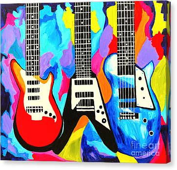 Fancy Guitars Canvas Print by Art by Danielle