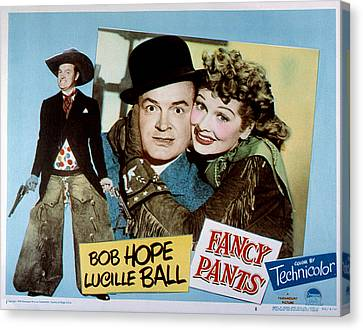 Posth Canvas Print - Fancy Pants, Bob Hope, Lucille Ball by Everett