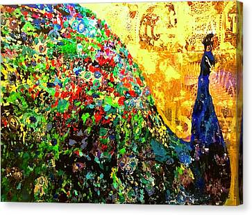 Fancy Peacock Canvas Print