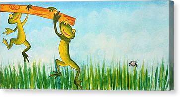 Fancy Wallpaper For Kids Canvas Print by Nirdesha Munasinghe
