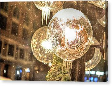 Faneuil Hall Lollypop Light Icicles Boston Ma Canvas Print by Toby McGuire