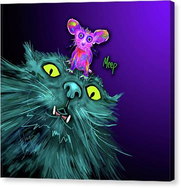 Fang And Meep  Canvas Print by DC Langer