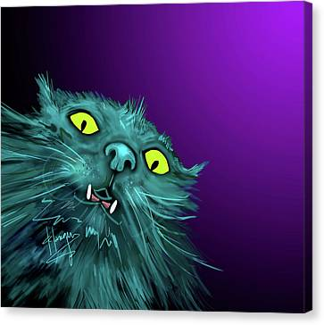Fang Dizzycat Canvas Print by DC Langer