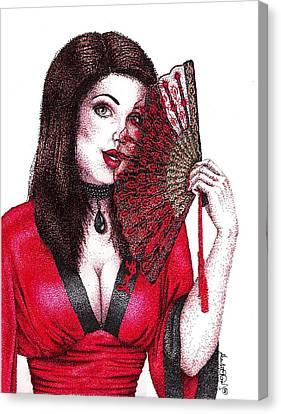 Fanning Flirtation Canvas Print by Scarlett Royal